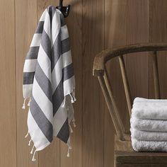Too oomphy.  gray Grey  striped towel is just the best.