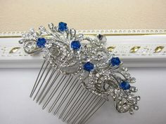 Something blue bridal hair comb Something blue от EverythingBride