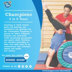 Champions is the perfect program to emphasis effort, diligence perfect for 6-8 years! In addition to crazy amounts of fun and games our program includes the meaning of fair play and teamwork. Visit our Website: http://www.mygym.com/ahmedabad #MyGym #MyGymFun #Champions #MyGymAhmedabad #ComingSoon #Physical #Social #Cognitive #Emotional #Development #InteractiveSkill #Tumbling #Agility #Songs #Dance #PuppetShows #Swings #Adventure