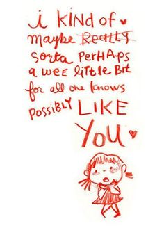 I Kind of Like You Greeting Card by Genevieve Santos
