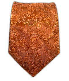 (BURNT orange. DONT LIKE) Twill Paisley - Burnt Orange (Skinny) - Twill Paisley - Burnt Orange (Skinny) Ties $15 (pocket scarf is $8)