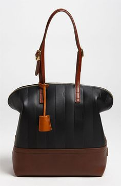 b068eeede0767 Fendi  Paris Pequin - 2-Way  Leather Shopper