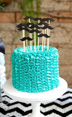Moustache-themed boy's baby shower by Laura Hooper Calligraphy Cupcakes, Cupcake Cakes, Baby Shower Cakes, Baby Boy Shower, Moustache Cake, Mustache Theme, Beautiful Cakes, Amazing Cakes, Baby Showers