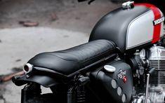Honda Brat by Redeemed Cycles Cb750 Cafe Racer, Scrambler Motorcycle, Motorcycle Engine, Motorcycle Style, Motorcycle Tank, Racing Motorcycles, Cafe Racers, Honda Cb750, Honda Scrambler