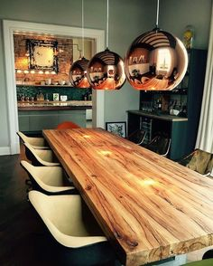 Solid wood table Dining table in oak old wood Oak table Wooden table Trei Natural Wood Dining Table, Wooden Dining Table Designs, Bar Height Dining Table, Dining Table Lighting, Dining Table Legs, Wooden Dining Tables, Oak Table, Solid Wood Dining Table, Dinner Table Design