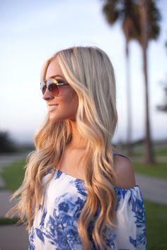 Sunglass Style with Joico: Beach Waves Summer Hairstyles, Pretty Hairstyles, Ombre Hair, Blonde Hair, New Hair Do, Gorgeous Hair, Amazing Hair, Beautiful, Dream Hair