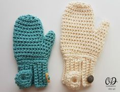 EASY-ON MITTENS Child to Adult Large Free pattern oombawkadesigncrochet