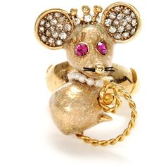 Mouse Ring by Betsey Johnson. I need this!