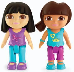 Fisher-Price Dora The Explorer Playtime Together Dora and Me Play Dates : Dora and Black Hair Friend
