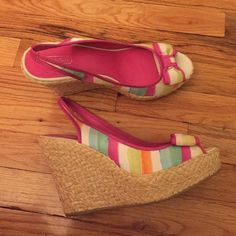 Coach espadrilles wedge heels !! size 11 Colorful Coach wedges !! Size 11  brand new never worn!! Coach Shoes Heels