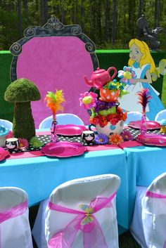 Alice In Wonderland Mad Tea Party Birthday Party Ideas | Photo 8 of 8 | Catch My Party
