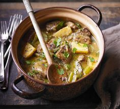 Slow-braised pork shoulder with cider & parsnips - gluten free stock and flour - tried, tested and fab