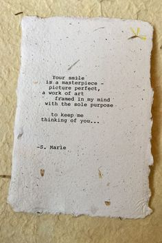 Thinking of you Gift Original romantic love by WritingsBySMarie