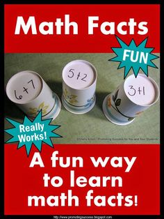How to Teach Math Facts - Visit our blog for tons of math and great teaching ideas!  #promotingsuccess http://promotingsuccess.blogspot.com/2014/04/tuesday-tips-how-to-teach-math-facts.html