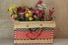 Handmade Reed Basket n 4 by ToinoAbel on Etsy, $60.00