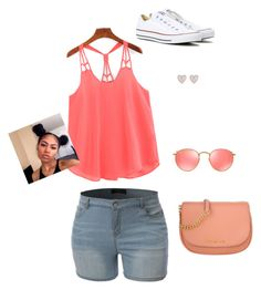 """Untitled #7"" by ashlyncrecy on Polyvore featuring New Look, Ray-Ban, Michael Kors and Converse"