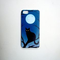 Cat and Moon iPhone Case by smiletee on Etsy
