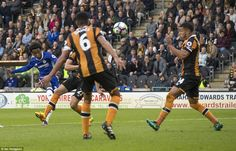 Willian curls Chelsea into the lead with a stunning effort from the edge of the box in the 61st minute against Hull