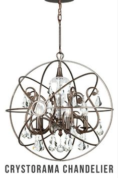 5-light hand-painted chandelier with eye-catching design that complements any rooms. #afflink