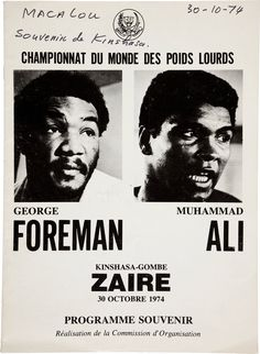 This Day in History: Oct 30, 1974: Muhammad Ali wins the Rumble in the Jungle. I loved to watch boxing with my Dad.
