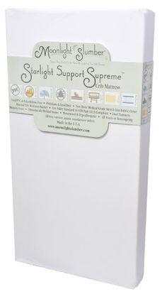 Moonlight Slumber Starlight Support Supreme Innerspring with Visco Crib Mattress Moonlight Slumber http://www.amazon.com/dp/B003YCAJ48/ref=cm_sw_r_pi_dp_6Q3cub0R0PQRM