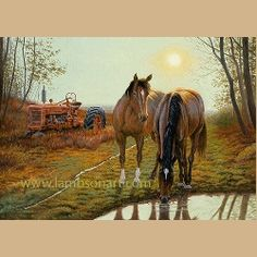 Old Farm Hands by Dallen Lambson 12 x16 $30