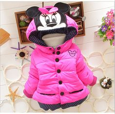 Outfit baby girls Hooded coats Winter Jacket