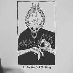 I am the god of hellfire by baileyillustration
