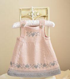 NO SEAMING Baby / Toddlers Easter Pinafore Dress - Knit