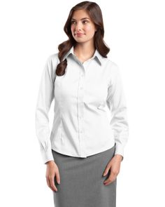 Pinpoint Oxford Shirt - Buy 100% non-iron cotton Red House women's non iron pinpoint oxford at Gotapparel.com.