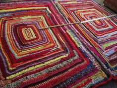 Imagen de handmade, custom made, and crochet rug