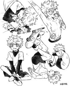 Hunter X Hunter, Hunter Anime, Killua, Anime Demon, Manga Anime, Anime Art, Zoldyck, Hxh Characters, Arte Sketchbook