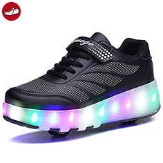 (Present:kleines Handtuch)High Top mit Velcro Schwarz 35 EU Aufladen Unisex-Erwachsene Farbe Sportschuhe für Damen Herren LED Sneaker mode JUNGLEST Turnschu Hxzl5fuvPe