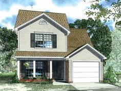 Eplans Country House Plan - French Country Flair - 1251 Square Feet and 3 Bedrooms from Eplans - House Plan Code HWEPL13052