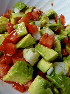 Three 3-Ingredient Avocado Salads ... delicious! #healthy #cinco de mayo #mexican food