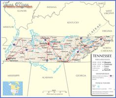 Tennesse Our Tennessee State County Map A Large Detailed Map - Map of state of tennessee