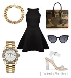 """Untitled #51"" by liudmila-botelho on Polyvore featuring Rolex, Ted Baker, Fendi, Yves Saint Laurent and Michael Kors"