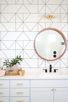 Consider this vital photo and also browse through today relevant information on Bathroom Cabinets Remodel Bathroom Red, Bathroom Interior, Modern Bathroom, Small Bathroom, Master Bathroom, Bathroom Cabinets, White Bathroom With Wallpaper, Bathroom Mural, Lavender Bathroom