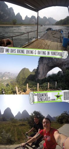 Two days exploring Xingping China on bikes, boats and hikes!