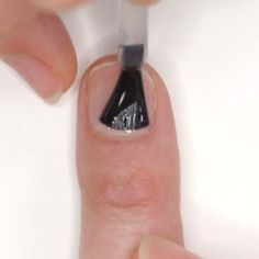Minimalist nail art. Diamond manigram.