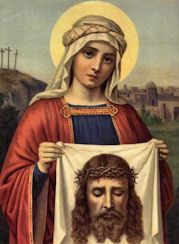 Historically it is the feast of St. Veronica of the Veil, the woman of Jerusalem who wiped the face of Christ while He was on the way to Calvary.