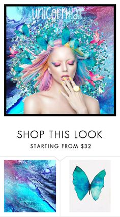 """""""Unicorn Hair"""" by beanpod ❤ liked on Polyvore featuring beauty"""