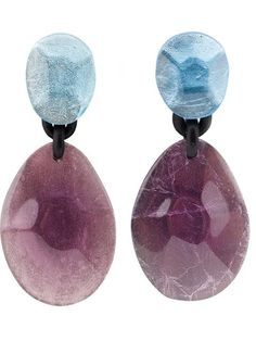Monies Linked Stone Clip-on Earrings - Patron Of The New - Farfetch.com