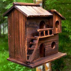 New 25*25*16 cm Wood preservative outdoor birds nest wood preservative bird nest decoration bird house wooden bird cage toy