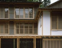 Shoji screens. Outside buildings