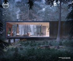 House in the Forest – Alex Hernandez Small Tiny House, Tiny House Cabin, Minimalist House Design, Modern House Design, Architectes Zaha Hadid, Forest House, House In Nature, Santa Lucia, Cabins And Cottages