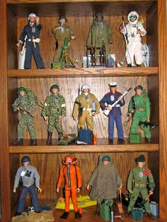 Vintage GI Joe's on display