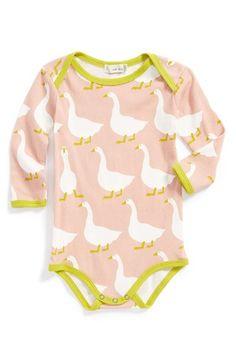 Zebi Baby Goose Print Organic Cotton Bodysuit (Baby Girls) available at #Nordstrom