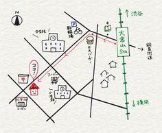 3-10. 地図はわかりやすくシンプルに | 4色ボールペンで!かわいいイラスト描けるかな http://ibeebz.com