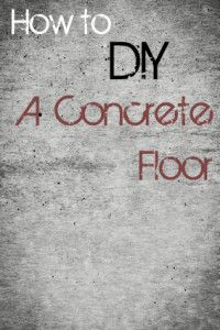 Wanting to install a concrete floor in your home? It is totally possible to do it yourself! Here is a summary of what the process entails: (for the complete tutorial go here.) Remove the old floor.
